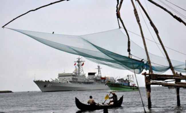 Chinese Naval ship \'Zhenghe\' arrives in Kochi on Wednesday...
