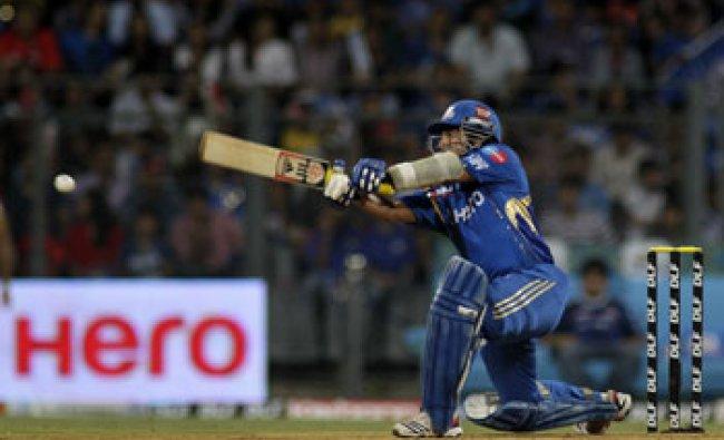 Mumbai Indians\' Sachin Tendulkar bats against Royal Challengers Banglore...