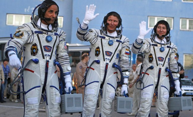 Crew members of the mission to the International Space Station