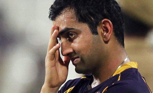 Dejected looking Kolkata Knight Riders captain Gautam Gambhir ...