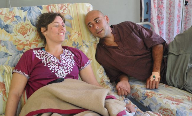 Andrees Rosch and Emily Jorcensen, survivors of yesterday\'s Agni Air crash