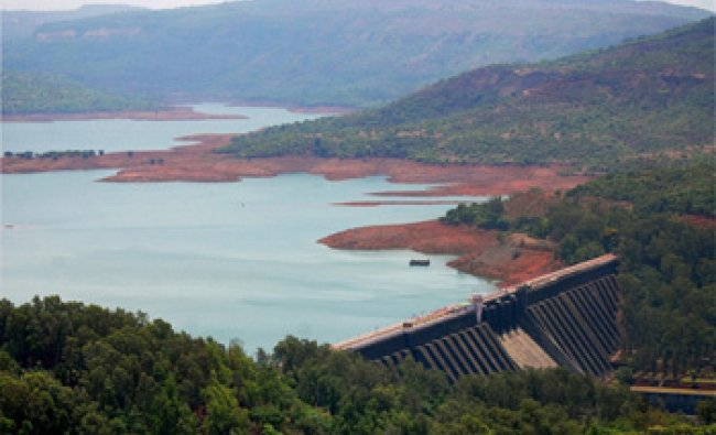 A view of Koyna dam in Satara district, Maharashtra...