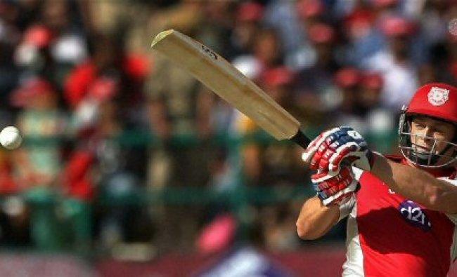 Kings XI Punjab\'s Adam Gilchrist plays a shot...