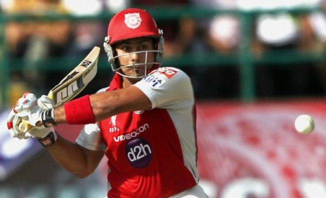 Kings XI Punjab\'s Siddharth Chitnis plays...