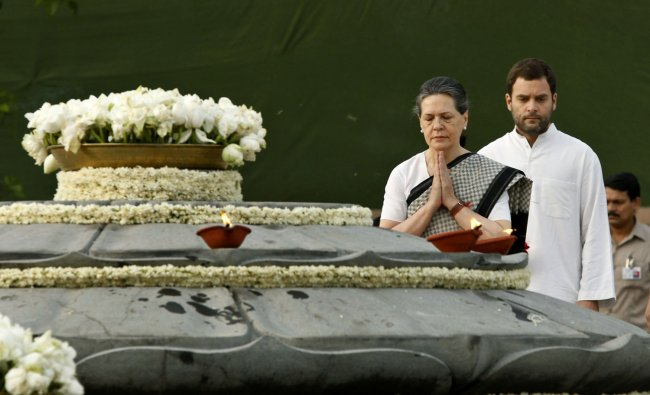 Congress Party President and wife of former Indian Prime Minister Rajiv Gandhi, Sonia Gandhi...