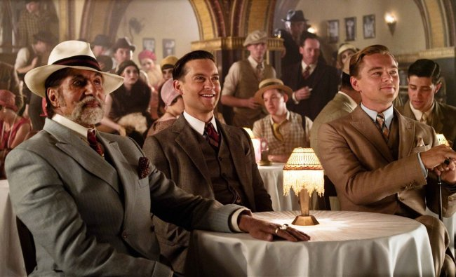 Amitabh Bachchan is seen sitting with Leonardo DiCaprio and Tobey Maguire in a still from his...