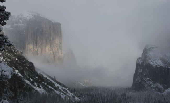 Yosemite National Park in California during Winter