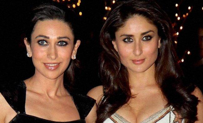sisters Kareena Kapoor and Karishma Kapoor at filmmaker Karan Johar\'s birthday party