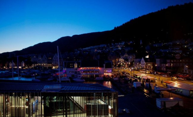 The fish market, heart of Bergen, Norway