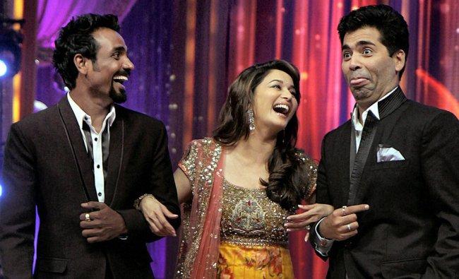 Madhuri Dixit with director Karan Johar