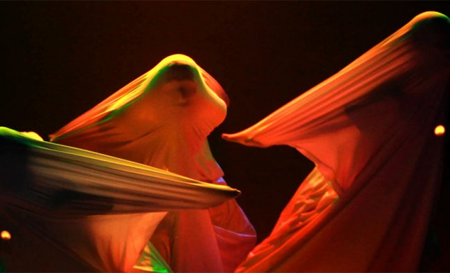 Artists perform a dance during a cultural event in Bhubaneswar