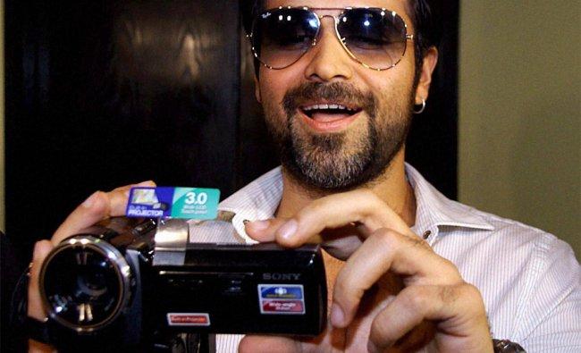 Bollywood Actor Emraan Hashmi promotes his film \'Shanghai\' at a theatre in Mumbai