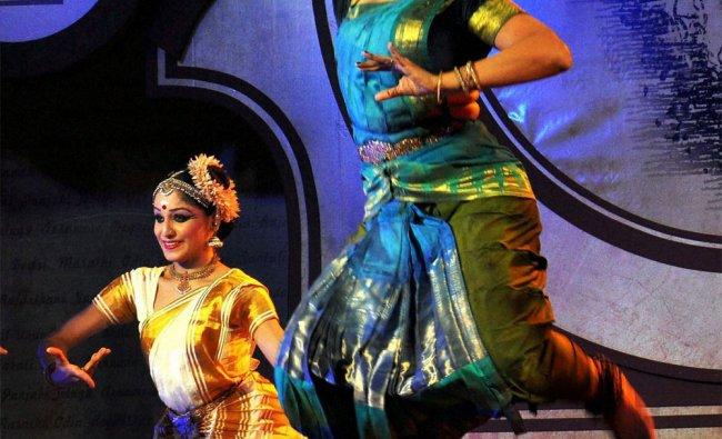 Actress Shobana performs at the Tagore Literature Award ceremony in Kochi