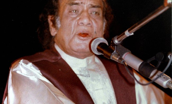 Ghazal maestro Mehdi Hassan who passed away in Karachi