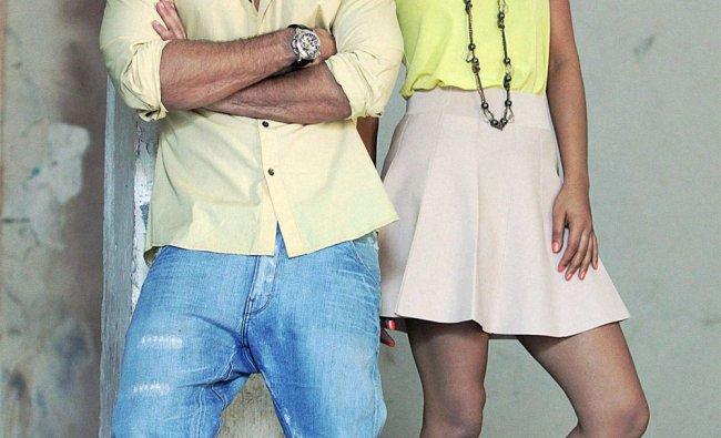 Shahid Kapoor and Priyanka Chopra at an event to promote her film \'Teri Meri Kahaani\' in Mumbai