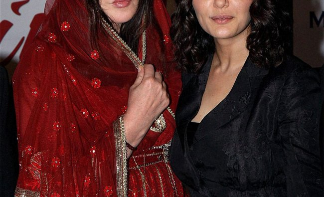 Bollywood actress Preity Zinta with French actress Isabelle Adjani at an event in Mumbai