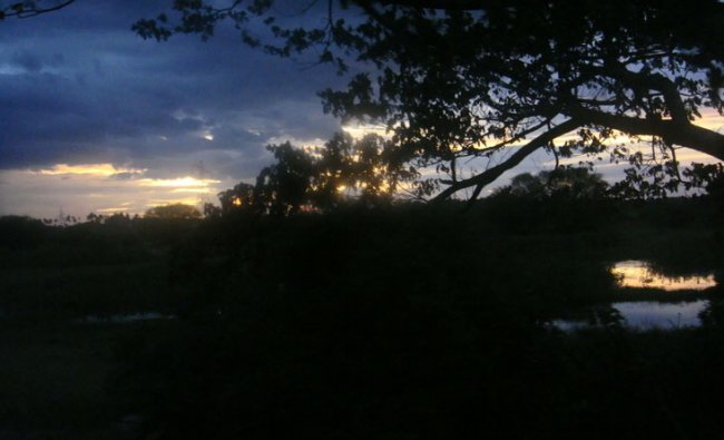 Evening sky near Kancheepuram