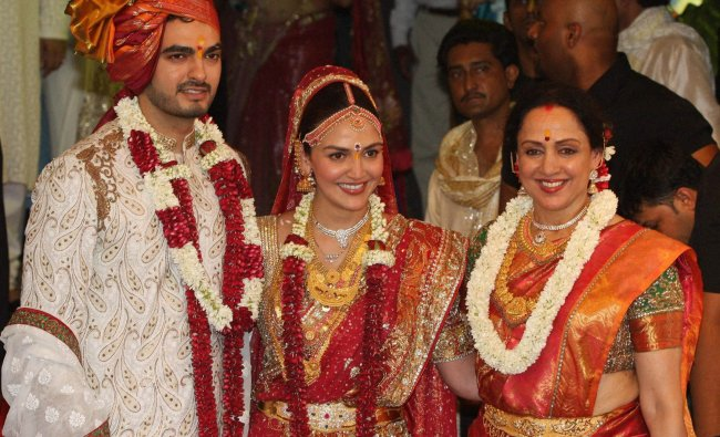 Hema Malini during the wedding of her daughter Esha Deol