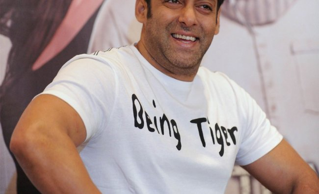 Salman Khan looks on during a promotional event for the forthcoming film Ek Tha Tiger