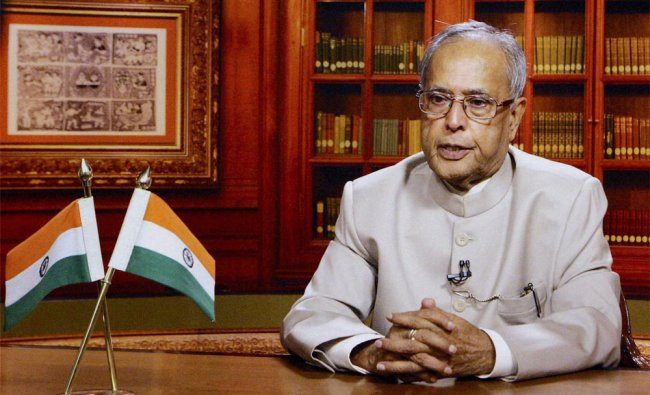 President Pranab Mukherjee addressing the Nation on the eve of the 66th Independence Day