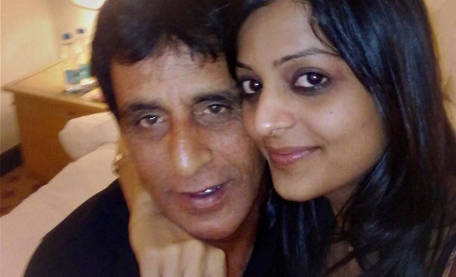 Asad Rauf with model Leena Kapoor who filed a complaint with police against him...