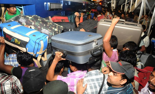 Large number of north- eastern passengers at Bangalore railway station