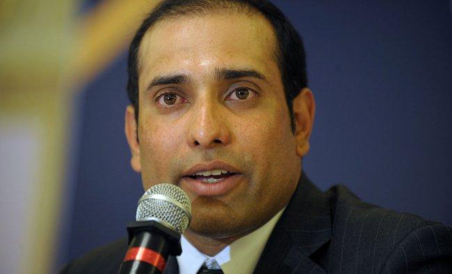 Indian cricketer Vangipurappu Venkata Sai (VVS) Laxman speaks at a press conference held to...