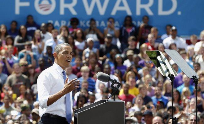 U.S. President Barack Obama speaks at Capital University in Columbus, Ohio