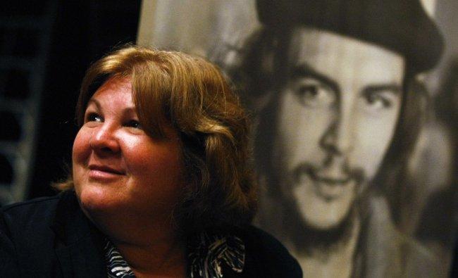 Aleida Guevara, daughter of Cuban revolutionary leader Ernesto \'Che\' Guevara, attends a book...