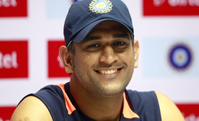 Mahendra Singh Dhoni speaks to the media in Hyderabad