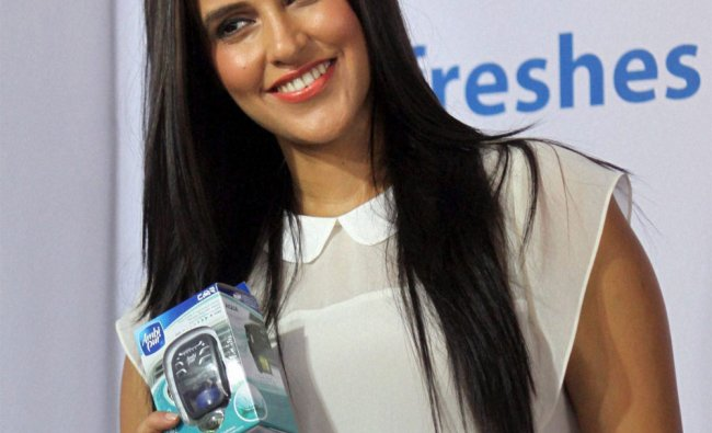 Bollywood actress Neha Dhupia during the launch of Ambi Pur air freshner.....