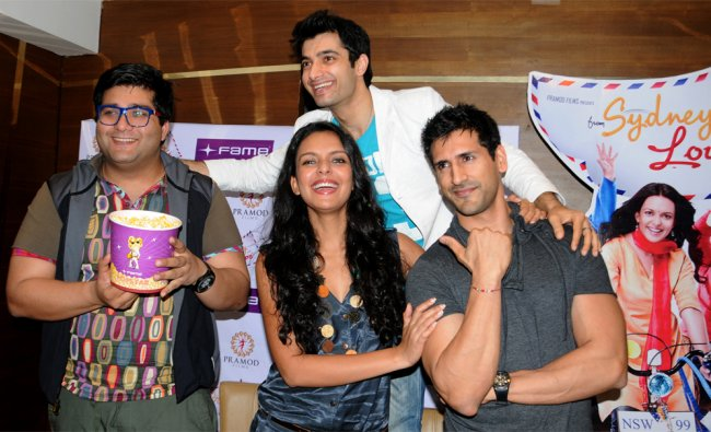 Actor and Director Prateek Charavarthy with his team during the film \'From Sydney with Love\' .....