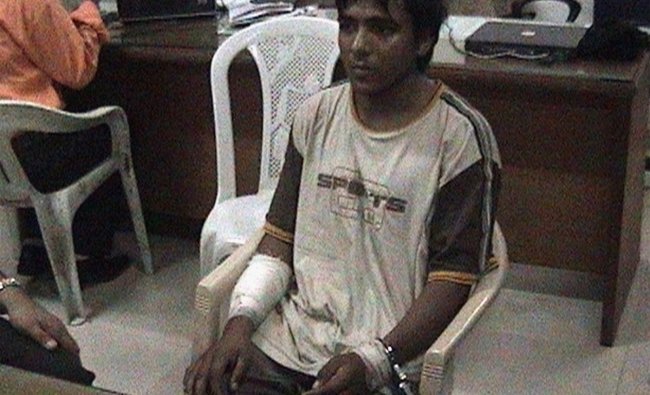 Mohammed Ajmal Kasab is seen at an undisclosed location in this file still image