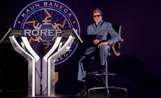 Amitabh Bachchan attends a news conference to promote his television show Kaun Banega Crorepati...