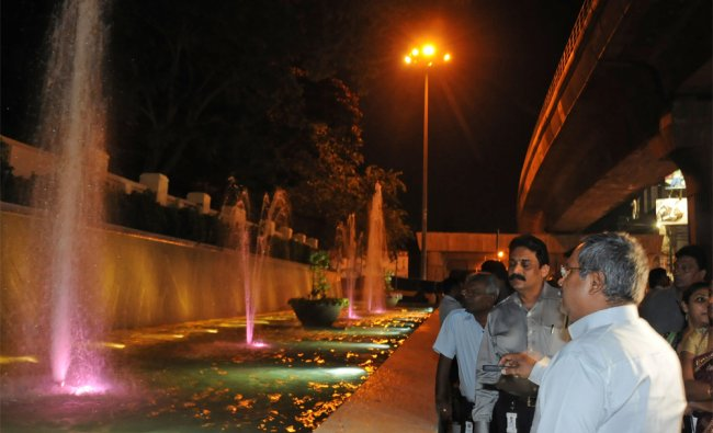 BMRL Md N ShivaShailam inaugurated fountain at Metro station in MG Road, Bangalore on Wednesday...