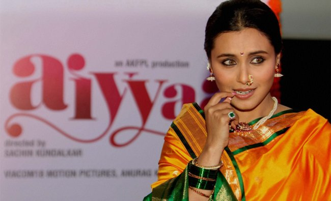 Rani Mukherjee during the unveiling of the first look of her new film \'Aiyyaa\'...