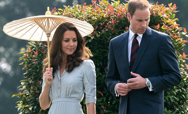 Britain\'s Prince William and his wife Catherine