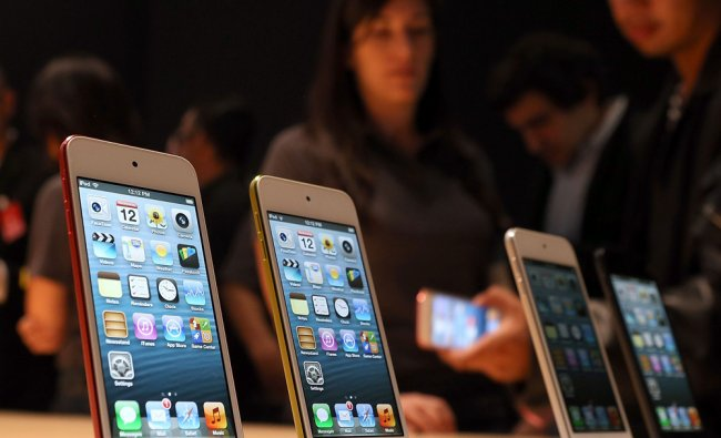 The new iPod Touch is displayed during an Apple special event