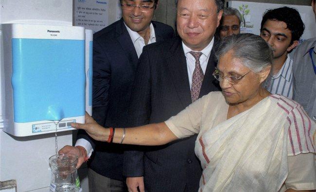 Delhi Chief Minister Sheila Dikshit with Daizo Ito, President, Panasonic, at the inaguration...
