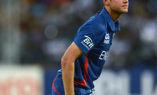 England\'s captain Stuart Broad during the match against India...