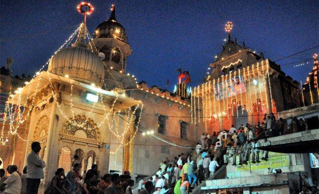 Devotees throng to pay obesiance to goddess Radha during Radhashtami Festival at Mathura...