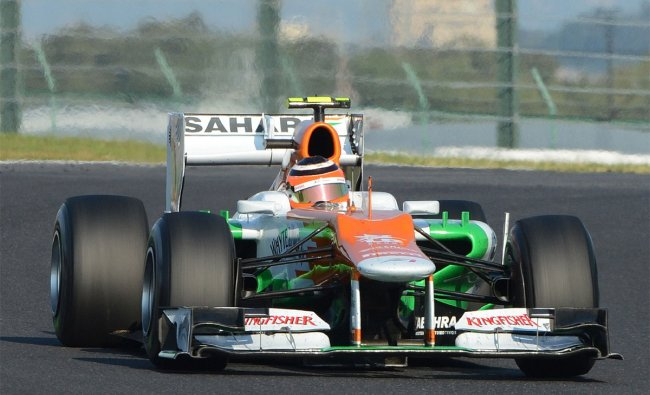 Force India-Mercedes driver Nico Hulkenberg of Germany during the Japanese Grand Prix