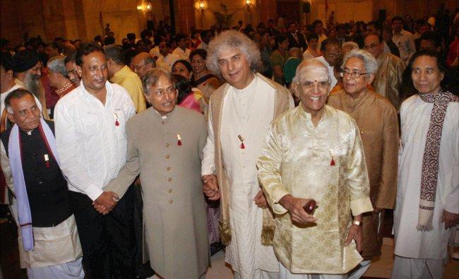 Recipients of Sangeet Natak Akademi fellowship Sarod maestro Amjad Ali Khan, Santoor exponent...