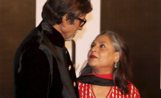 Amitabh Bachchan with wife Jaya Bachchan at a party hosted by Anil Ambani on the eve of Amitabh...