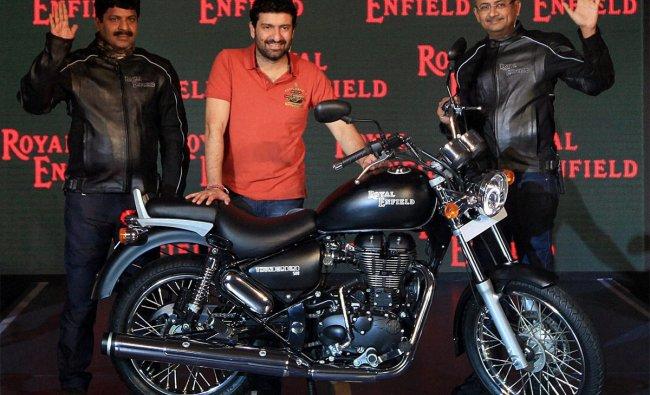 The launch of the new \'Thunderbird 500\' in Mumbai on Thursday