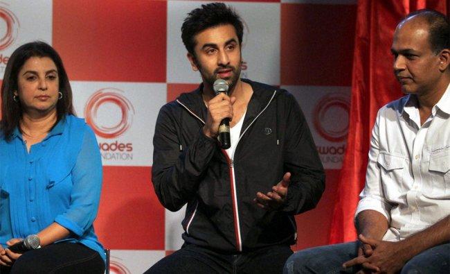 Farah Khan, Ranbir Kapoor filmmaker Ashutosh Gowarikar during the launch of \'Swades Foundation\'...