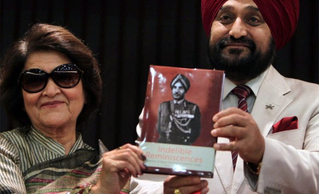 Army Chief General Bikram Singh and Sudesh Gurbakhsh Singh release a book on Gurbakhsh Singh...