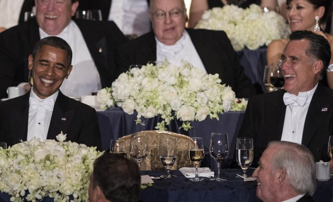 Barack Obama, Mitt Romney and others attend the 67th annual Al Smith dinner