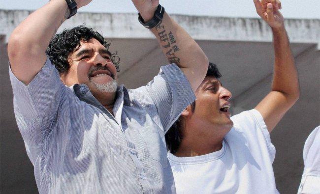 Football legend Diego Armando Maradona dances to Spanish tunes in Kerala...