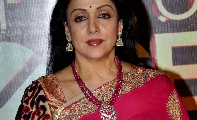 Indian Bollywood actress Hema Malini poses as she attends the Peoples Choice Awards ceremony